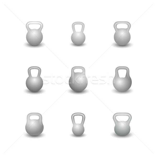 Set kettlebells, vector illustration. Stock photo © kup1984