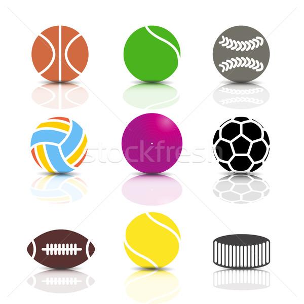 набор спортивных игры иконки Сток-фото © kup1984