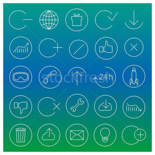 Set of linear universal icons, vector illustration. Stock photo © kup1984