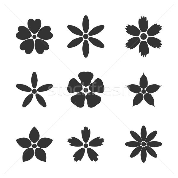 Flower bud set, vector illustration Stock photo © kup1984
