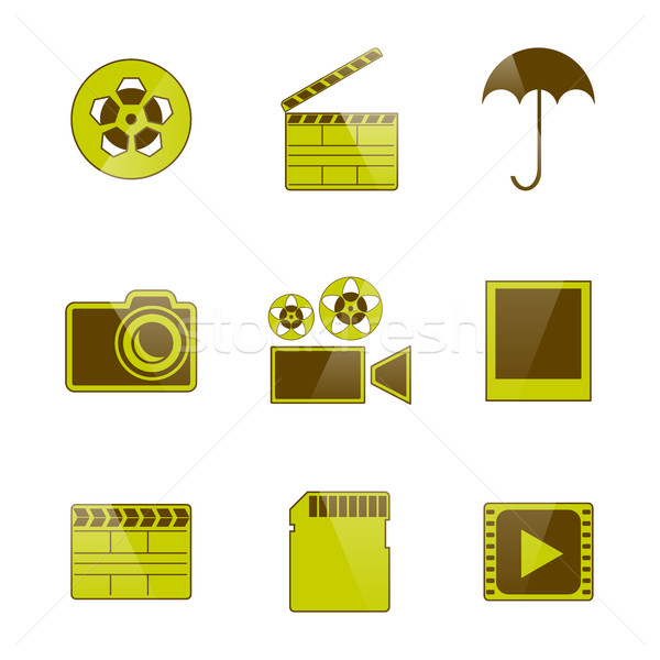 Icons video and photo filming, vector illustration. Stock photo © kup1984