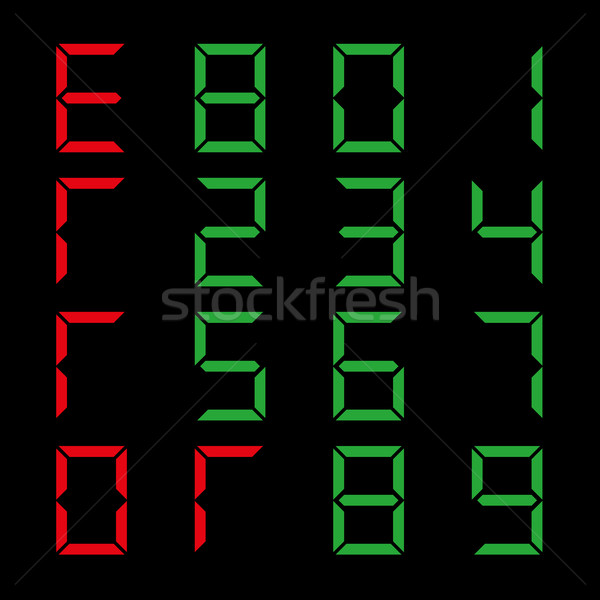 A set of numbers, vector illustration. Stock photo © kup1984