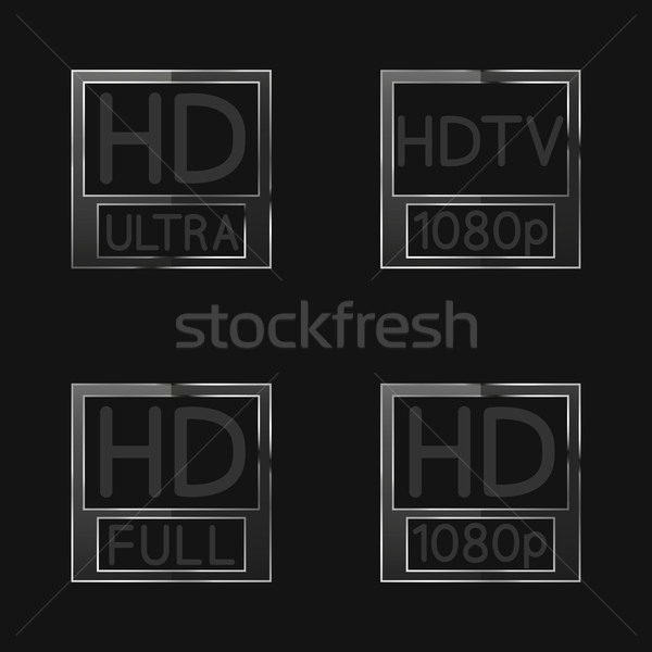 High definition signs, vector illustration Stock photo © kup1984