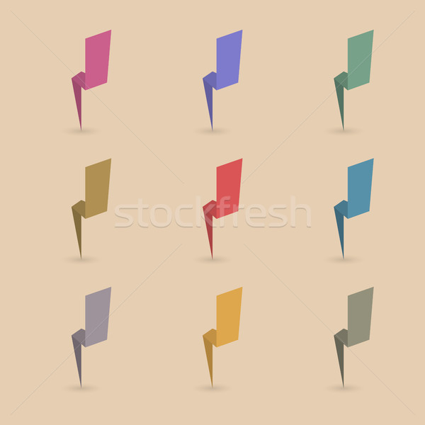 Lightning Set, vector illustration Stock photo © kup1984
