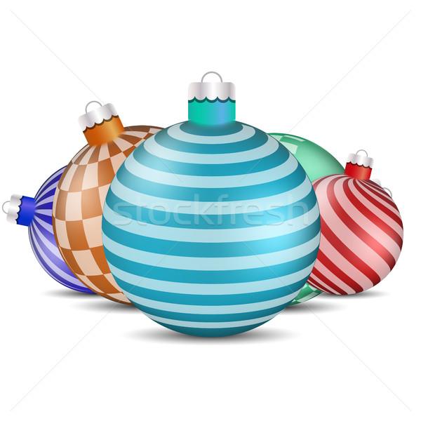 игрушками украшения рождественская елка белый набор дизайна Сток-фото © kup1984