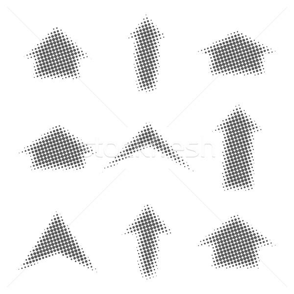 Gris flechas medios tonos efecto diferente formas Foto stock © kup1984