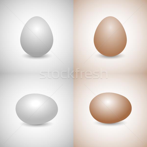 Icons egg, vector illustration. Stock photo © kup1984