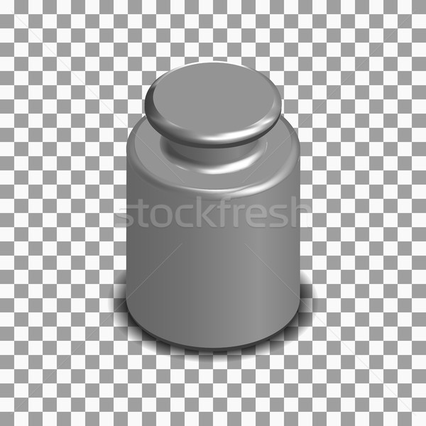Photorealistic measuring weight for scales in isometric, vector illustration. Stock photo © kup1984