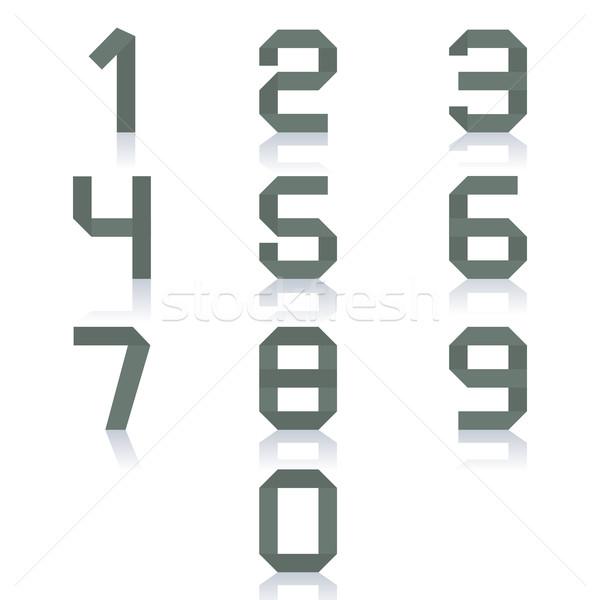 紙 番号 セット ゼロ 9 孤立した ストックフォト © kup1984