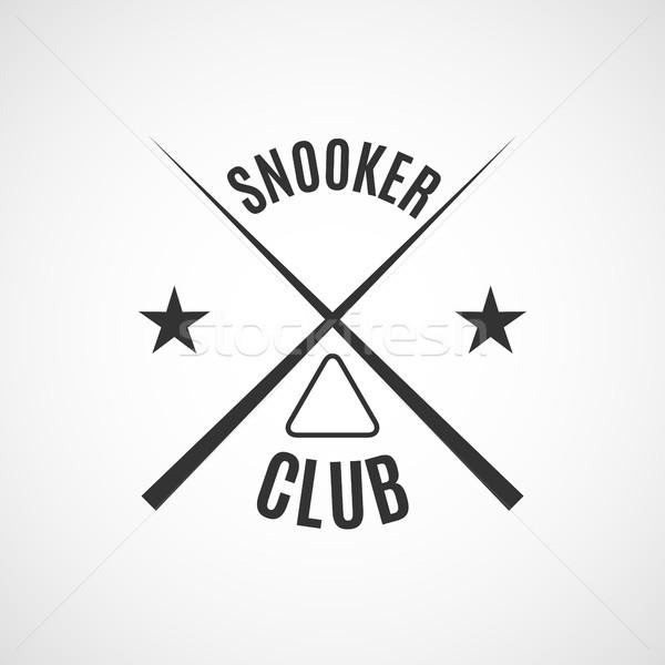 Embléma biliárd klub szürke logo különböző Stock fotó © kup1984