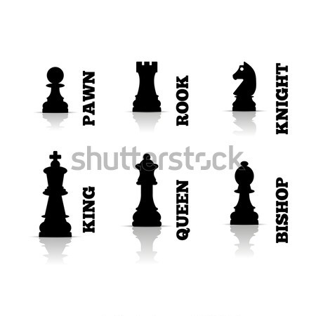 Chess figures isometric, vector illustration. Stock photo © kup1984