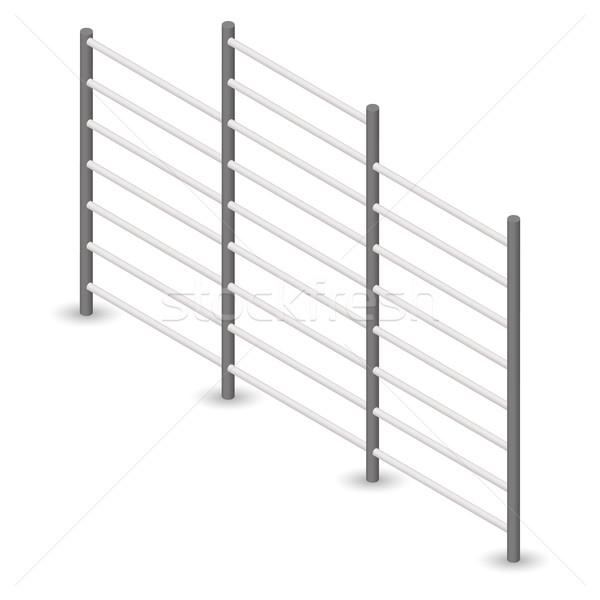 Stok fotoğraf: çelik · duvar · 3D · yalıtılmış · beyaz · dizayn