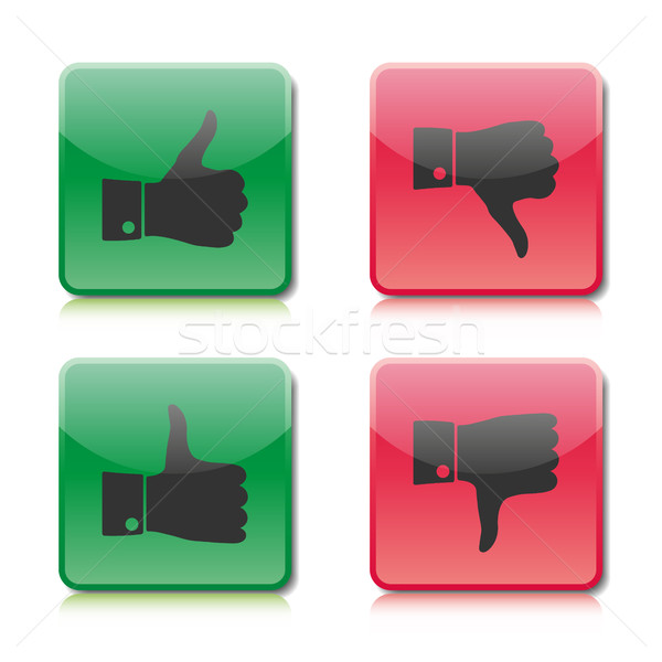 A set of buttons like and dislike, vector illustration Stock photo © kup1984