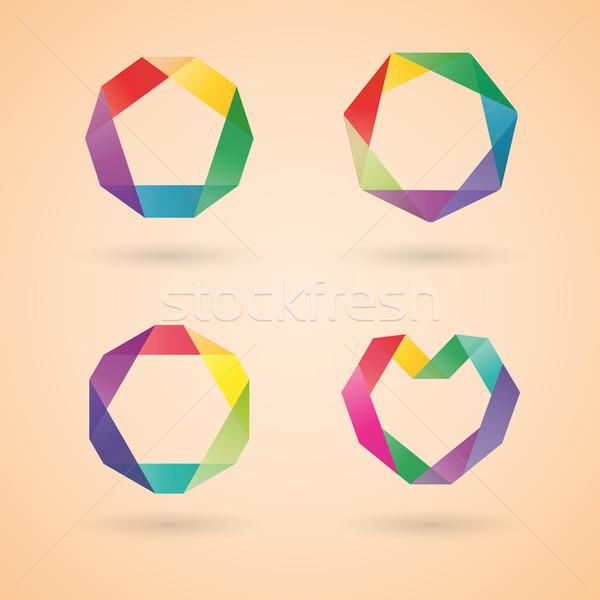 Logo design template, vector illustration. Stock photo © kup1984