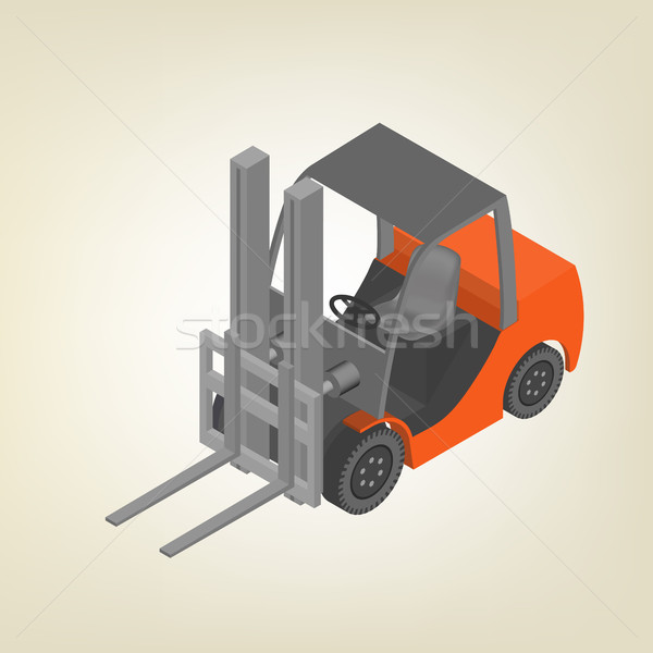 Icon forklift isometric, vector illustration. Stock photo © kup1984