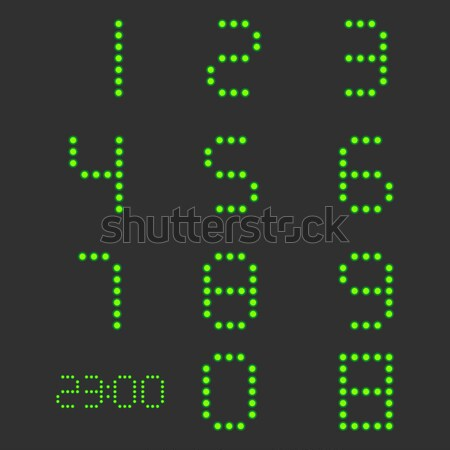 セット 番号 デジタル ゼロ 9 バックライト ストックフォト © kup1984