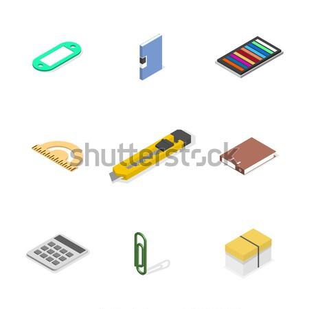 Under construction design elements in 3D, vector illustration. Stock photo © kup1984