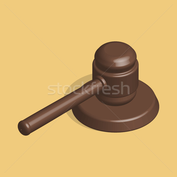 Judge hammer and stand in 3d, vector illustration. Stock photo © kup1984