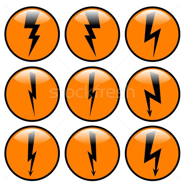 雷 セット 異なる 平面 ベクトル ストックフォト © kup1984