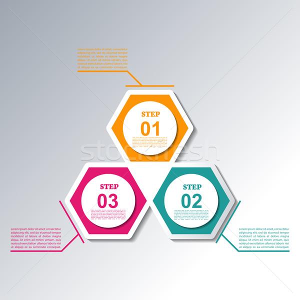 Set elements for infographics, vector illustration. Stock photo © kup1984