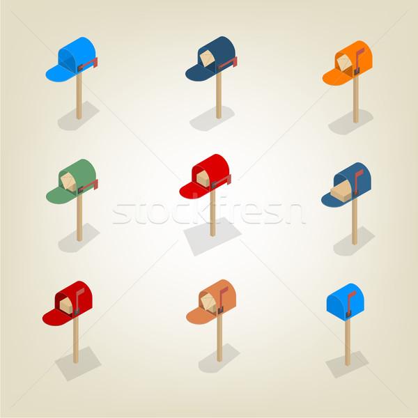 American mailbox isometric, vector illustration. Stock photo © kup1984