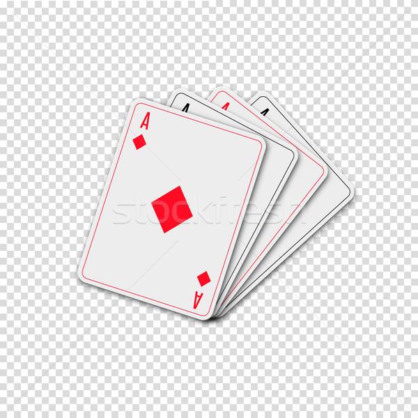 игральных карт изолированный белый дизайна костюм клуба Сток-фото © kup1984