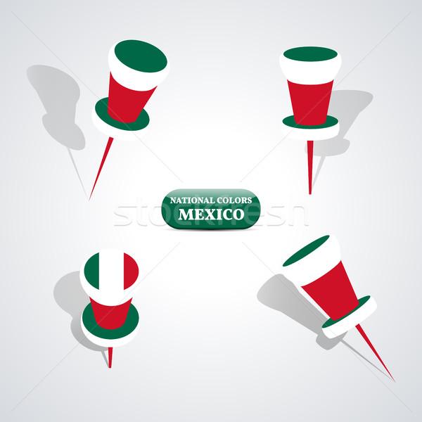 набор цветами Мексика знак флаг цвета Сток-фото © kup1984