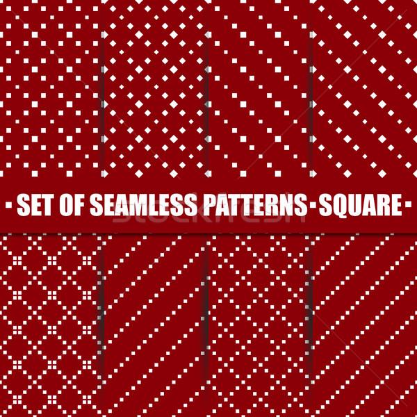 Set of seamless pattern, vector illustration. Stock photo © kup1984