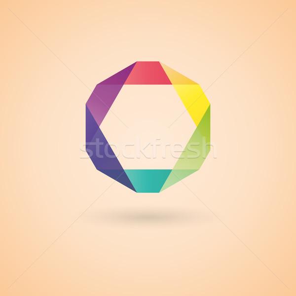 ロゴデザイン テンプレート 抽象的な 明るい 図 ビジネス ストックフォト © kup1984