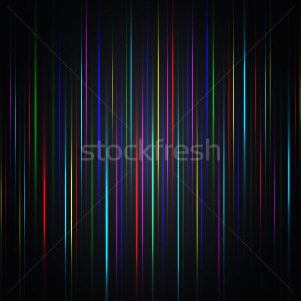 Absztrakt tarka fényes csíkok szett függőleges Stock fotó © kup1984