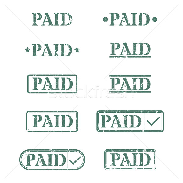 A set of stamps is paid, vector illustration. Stock photo © kup1984