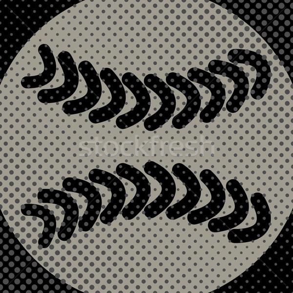 Esportes bola jogo beisebol efeito meio-tom Foto stock © kup1984