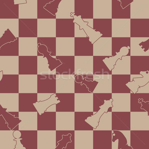 Sem costura xadrez peças de xadrez textura projeto fundo Foto stock © kup1984