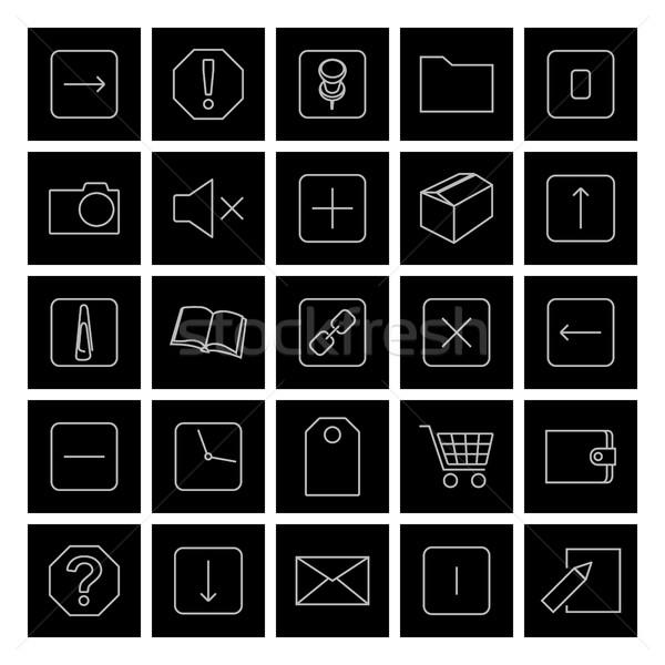 Icons of thin lines, vector illustration. Stock photo © kup1984