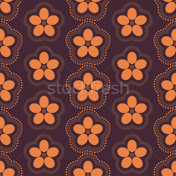 Floral seamless background, vector illustration. Stock photo © kup1984