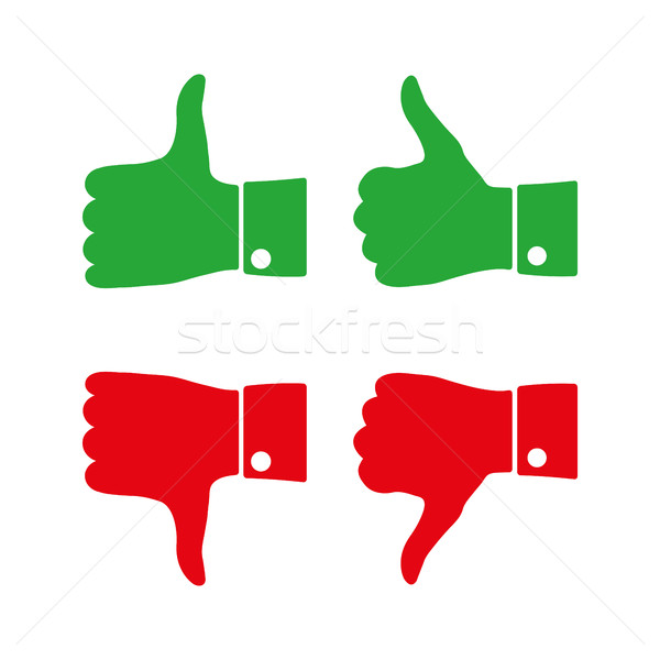 Stock photo: Icons thumbs  up and down, vector illustration