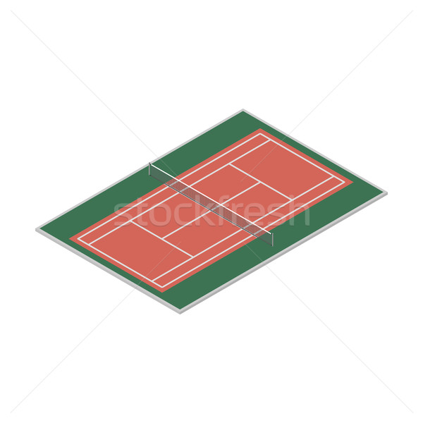 Field for the game of tennis, vector illustration. Stock photo © kup1984