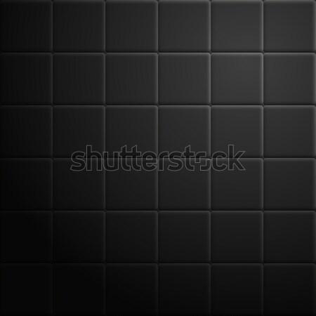 Absztrakt csempék sötét textúra fekete építkezés Stock fotó © kup1984