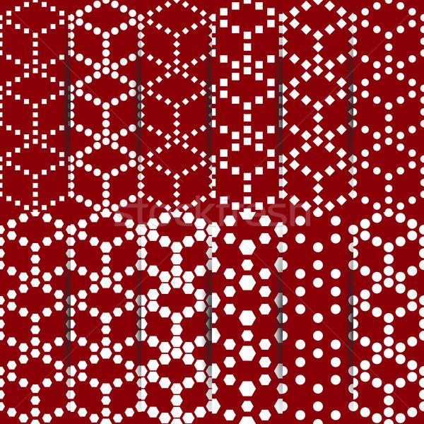 Conjunto doze geométrico Foto stock © kup1984