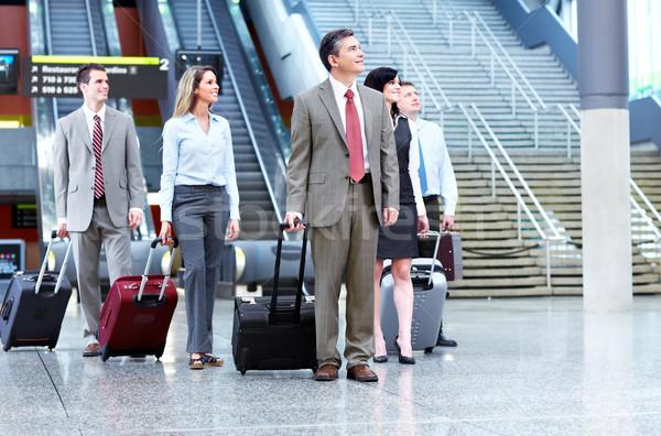 Grupo pessoas de negócios aeroporto empresário internacional edifício Foto stock © Kurhan