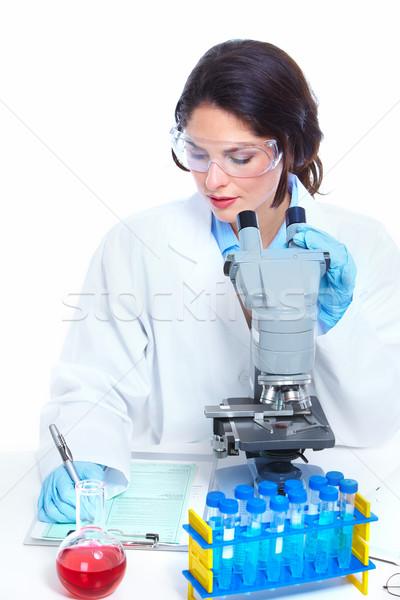 Laboratuvar araştırma bilimsel kadın sağlık kadın Stok fotoğraf © Kurhan