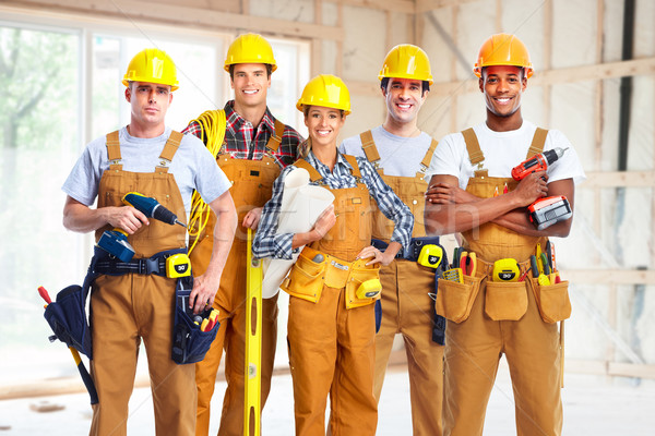 Stock photo: Group of construction workers.