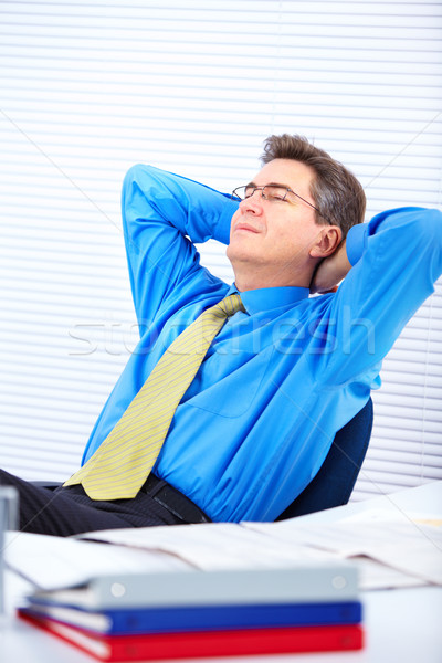 Businessman relaxing Stock photo © Kurhan