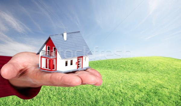 Hand with a little house. Stock photo © Kurhan