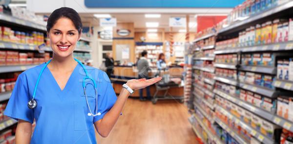 Stock photo: Doctor pharmacist woman.