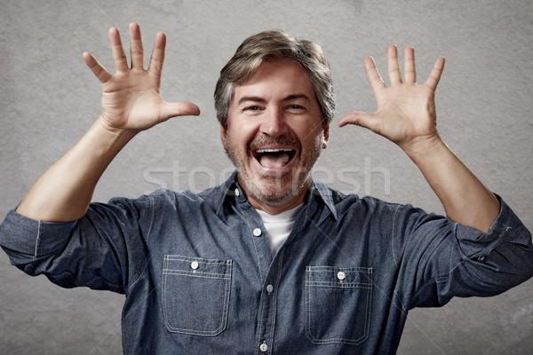 Happy man. Stock photo © Kurhan