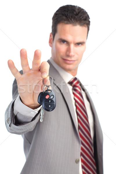 ビジネスマン 車のキー 車のキー 孤立した 白 ストックフォト © Kurhan