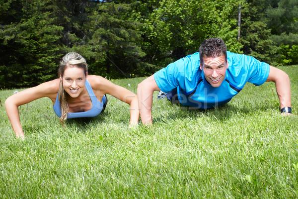 Sportive people. Stock photo © Kurhan