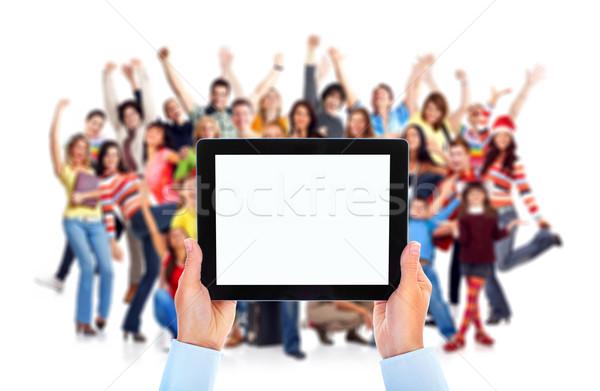 Grupo pessoas felizes isolado branco negócio Foto stock © Kurhan