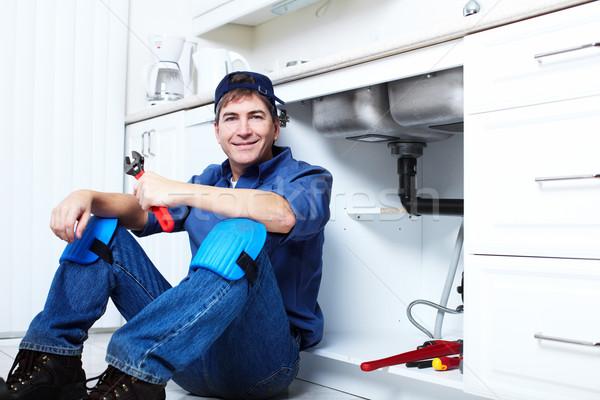 профессиональных водопроводчика сантехники ремонта службе здании Сток-фото © Kurhan
